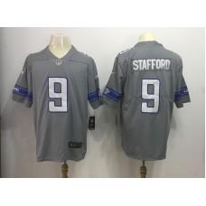 Men Detroit Lions 9 Matthew Stafford Grey Rush Limited NFL Jersey