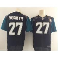 Men Jacksonville Jaguars 27 Fournette Black Elite Nike Elite NFL Jersey