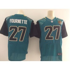 Men Jacksonville Jaguars 27 Fournette Green Elite Nike Elite NFL Jersey