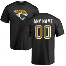 Men Jacksonville Jaguars NFL Pro Line Black Any Name and Number Logo Custom T-Shirt