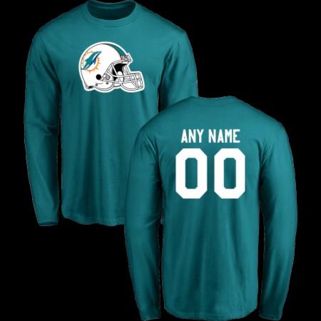 Men Miami Dolphins Design-Your-Own Long Sleeve Custom NFL T-Shirt