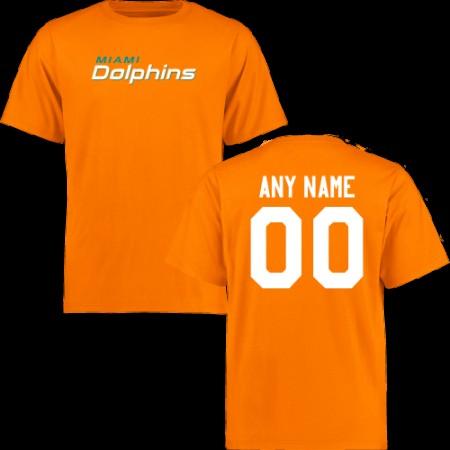 Men Miami Dolphins Design-Your-Own Short Sleeve Custom NFL T-Shirt