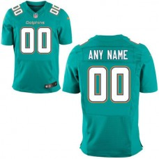 Men Miami Dolphins Green Green Nike Aqua Custom Elite NFL Jersey