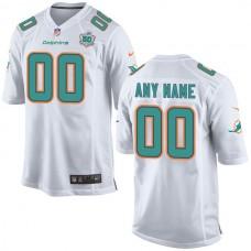 Men Miami Dolphins White Nike White Custom Patch Game NFL Jersey