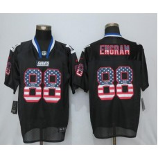 Men New York Giants 88 Engram USA Flag Fashion Black New Nike Elite NFL Jersey
