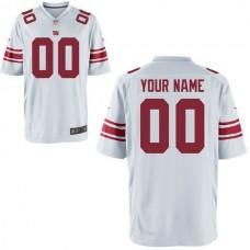 Men New York Giants Custom Game White NFL Jersey