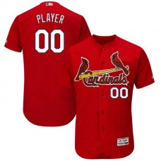 Men St. Louis Cardinals Majestic Red Fashion Scarlet Flex Base Authentic Collection Custom MLB Jersey