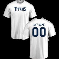 Men Tennessee Titans Design-Your-Own Short Sleeve Custom NFL T-Shirt