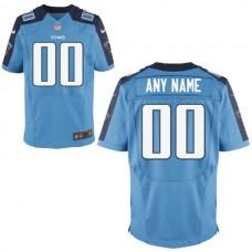 Men Tennessee Titans Nike Light Blue Custom Alternate Elite NFL Jersey