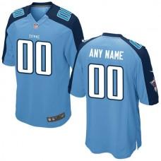 Men Tennessee Titans Nike Light Blue Custom Alternate NFL Jersey