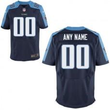 Men Tennessee Titans Nike Navy Custom Elite NFL Jersey