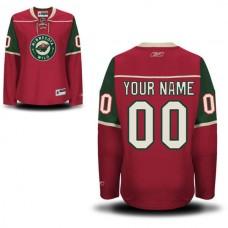 Reebok Minnesota Wild Women Premier Home Custom NHL Jersey - Red