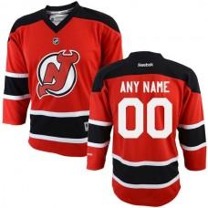 Reebok New NHL Jersey Devils Youth Replica Home Custom NHL Jersey - Red