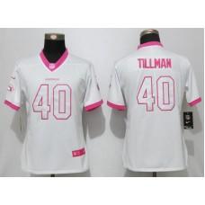 Women 2017 Arizona Cardinals 40 Tillman Matthews White Pink Stitched New Nike Elite Rush Fashion NFL Jersey