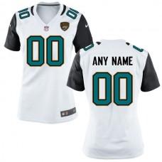 Women Jacksonville Jaguars Nike White Custom NFL Jersey