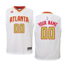 Youth Atlanta Hawks Adidas White Custom Replica Home NBA Jersey