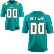 Youth Miami Dolphins Nike Aqua Custom Green Game NFL Jersey