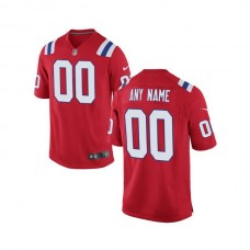 Youth New England Patriots Nike Red Custom Alternate Game NFL Jersey