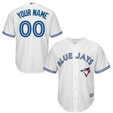 Youth Toronto Blue Jays Majestic White Custom Cool Base MLB Jersey