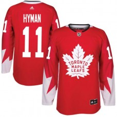 2017 NHL Toronto Maple Leafs Men 11 Zach Hyman red jersey