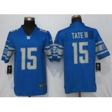 Men Detroit Lions 15 Tate lll Blue Vapor Untouchable New Nike Limited Player