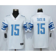 Men Detroit Lions 15 Tate lll White Vapor Untouchable New Nike Limited Player