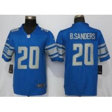 Men Detroit Lions 20 B.Sanders Blue Vapor Untouchable New Nike Limited Player