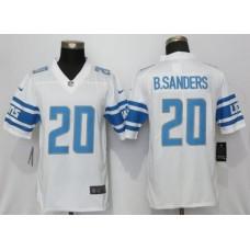 Men Detroit Lions 20 B.Sanders White Vapor Untouchable New Nike Limited Player