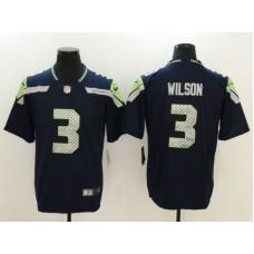 Men Seattle Seahawks 3 Wilson Blue Nike Vapor Untouchable Limited NFL Jersey