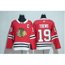 2017 Chicago Blackhawks 19 Toews red Adidas jerseys