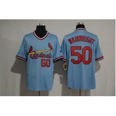 2017 MLB St  Louis Cardinals 50 Adam Wainwr Blue jerseys