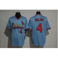 2017 MLB St Louis Cardinals 4 Molina blue jerseys