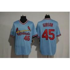 2017 MLB St Louis Cardinals 45 Gibson blue Jerseys