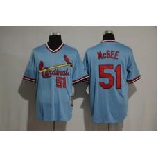 2017 MLB St Louis Cardinals 51 Willie McGee blue jersey