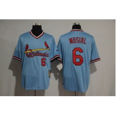 2017 MLB St Louis Cardinals 6 Musial blue jersey