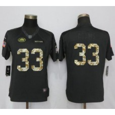 2017 NFL Women Nike New York Jets 33 Adams Anthracite Salute To Service Limited Jersey