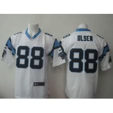 Carolina Panthers 88 Olsen white Nike NFL Elite Jerseys
