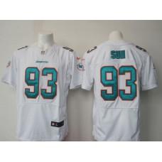 Men Miami Dolphins 93 Suh white NFL Nike Elite Jersey