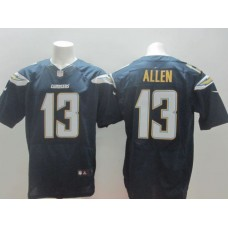 Men Los Angeles Chargers 13 Allen blue NFL Nike Elite Jerseys