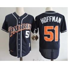 Men San Diego Padres 51 Hoffman Blue Throwback 1998 MLB Jerseys