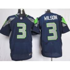 Men Seattle Seahawks 3 Wilson blue NFL Nike Elite Jersey