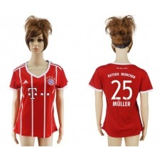 2017-2018 Club Bayern Munich home aaa verion women 25 soccer jersey