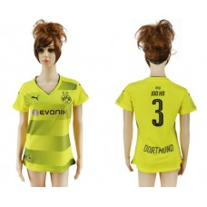 2017-2018 Club Dortmund home aaa verion women 3 soccer jersey