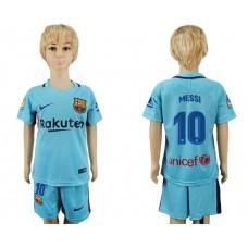 2017-2018 club barcelona aeay kids 10 soccer jersey