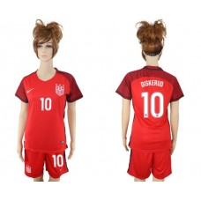 2017-2018 national women United States away 10 soccer jersey