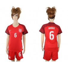 2017-2018 national women United States away 6 red soccer jersey