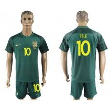 Men 2017-2018 National Brazil away 10 Pele soccer jersey