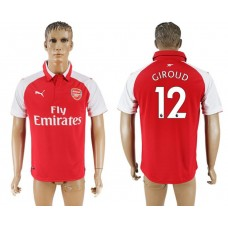 Men 2017-2018 club Arsenal home home aaa version 12 red soccer jersey