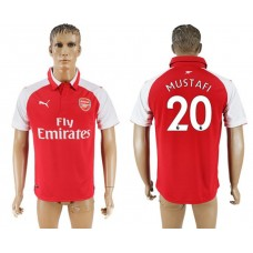 Men 2017-2018 club Arsenal home home aaa version 20 red soccer jersey