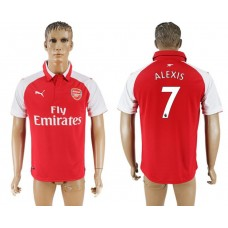 Men 2017-2018 club Arsenal home home aaa version 7 red soccer jersey